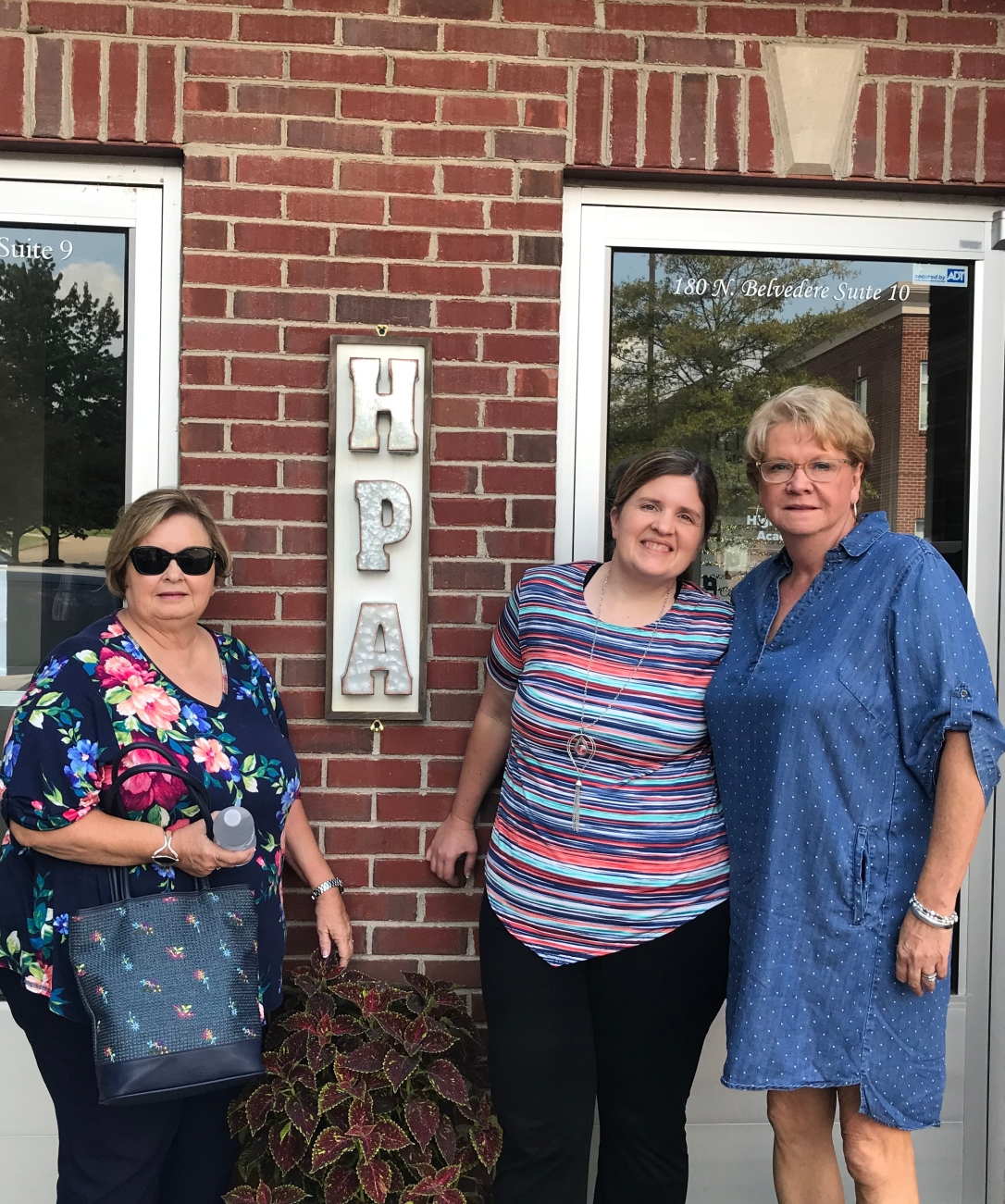 Rose, Mary, and Mama Thayer in front of HPA